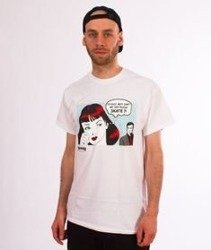 Thrasher-New Boyfriend T-Shirt Biały