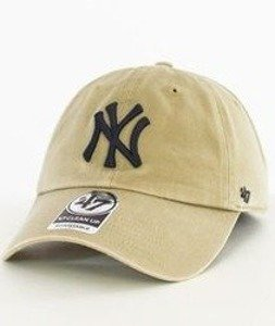 47 Brand-Clean Up New York Yankees Czapka z Daszkiem Khaki