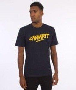 Carhartt-Painted Script T-Shirt Navy/Quince