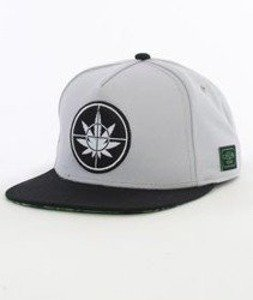 Cayler & Sons-Defend Your Crops Cap Snapback Grey/Black/Green Leaves