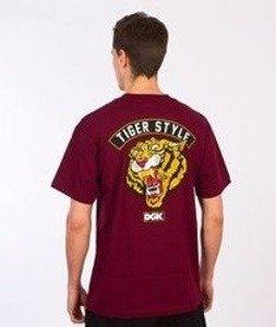 DGK-Tiger Style T-Shirt Bordowy