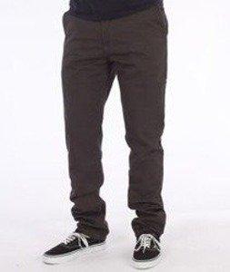 Nervous-Chino Fa16 Spodnie Materiałowe Grafitowe