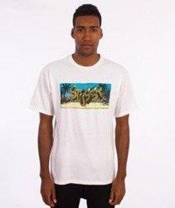 Stussy-Stranded T-Shirt Biały