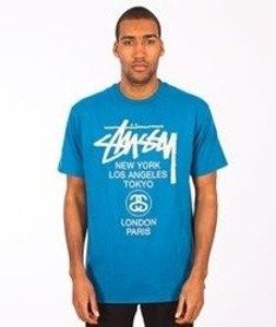 Stussy-World Tour T-Shirt Blue