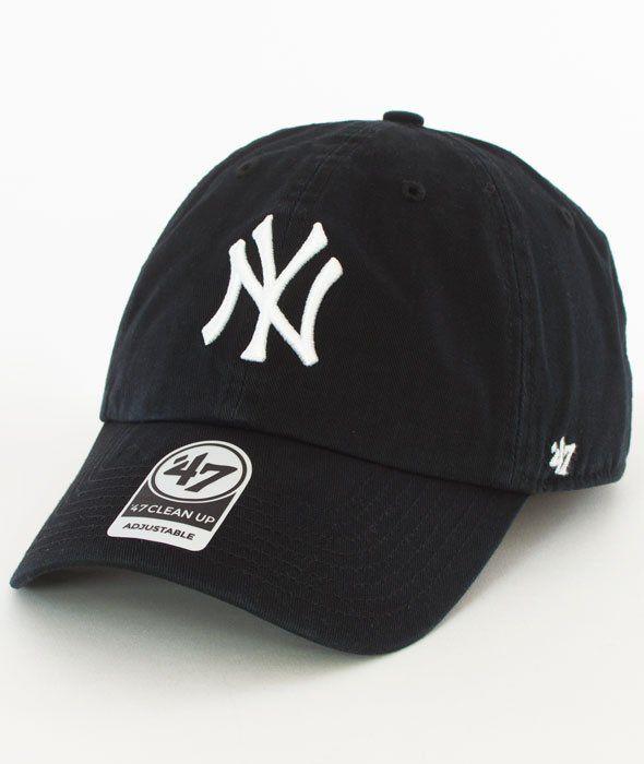 47 Brand Clean Up New York Yankees Czapka z Daszkiem Czarna