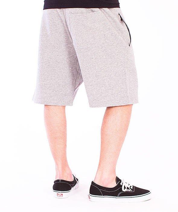 Carhartt-College Sweat Short  Grey Heathet/Cordovan
