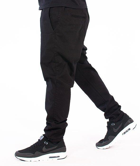 Diamante-Elegant Spodnie Materiałowe Czarne