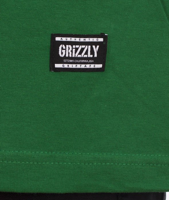 Grizzly-OG Stamp Logo T-Shirt Kelly Green