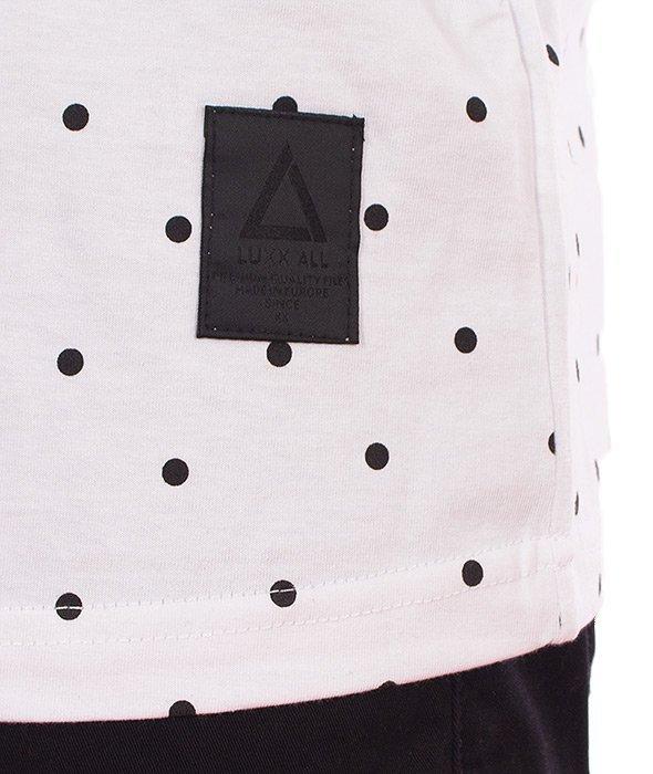 LuxxAll-Dots T-Shirt Biały