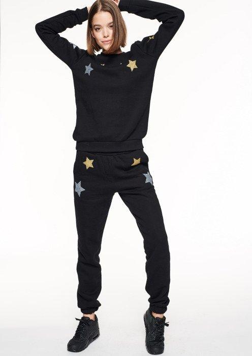 a82a4d591d7179 SmokeStory-SSG GIRLS STARS CLASSIC JOGGER Spodnie Dresowe Damskie Czarne ...