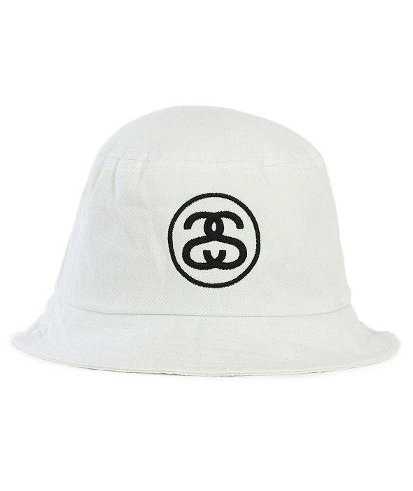 Stussy-Ss Link Sp16 Bucket Hat White