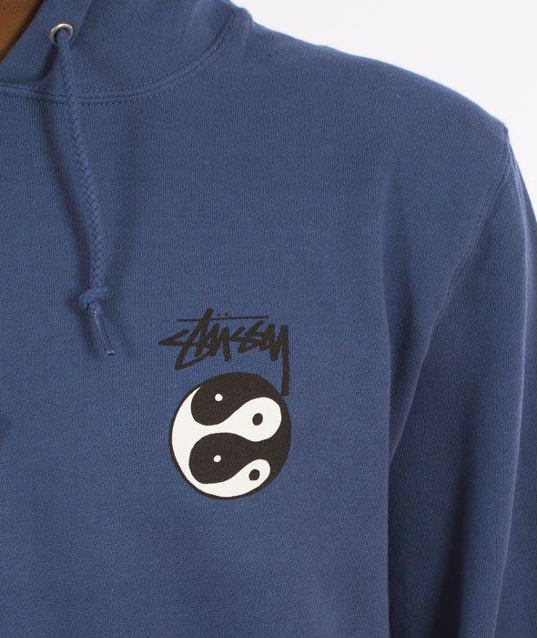 Stussy-Yin Yangz Hood Bluza Kaptur Stalowy