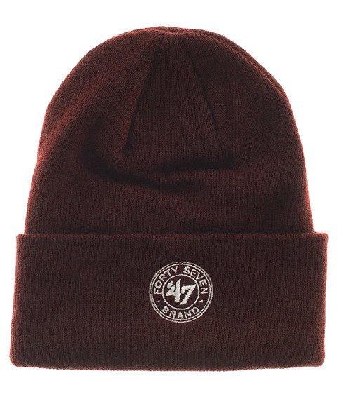 47 Brand-Montreal Maroons Raised Cuff Knit Czapka Zimowa Bordowa