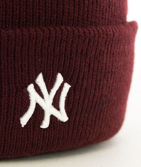 47 Brand-New York Yankees Centerfield Czapka Zimowa Bordo