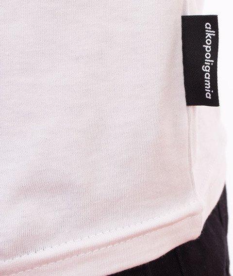 Alkopoligamia-Kapsel T-Shirt Biały