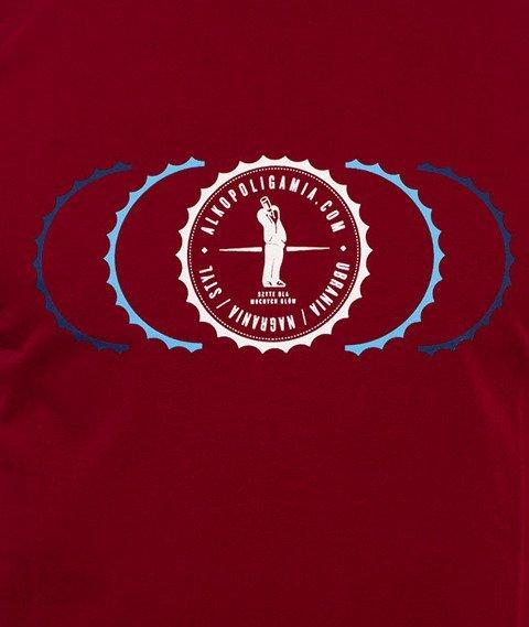 Alkopoligamia-Kapsel T-Shirt Bordo