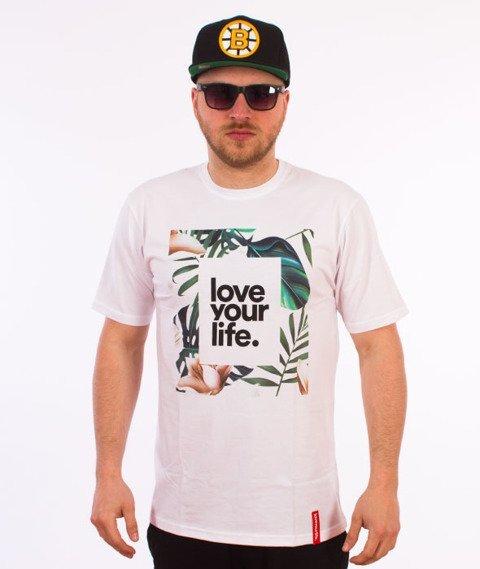 Alkopoligamia-Loveyourlife Botanix T-Shirt Biały