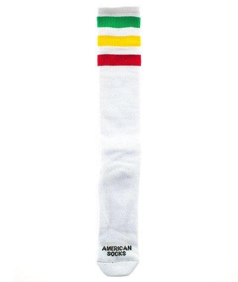 American Socks-Rasta Knee High Podkolanówki Białe