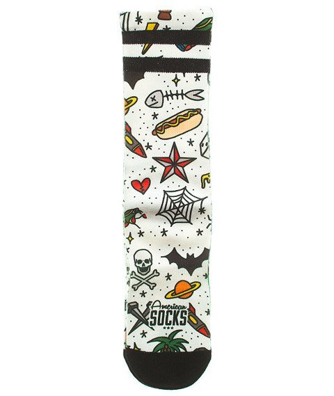 American Socks-Rosey Jones Tatoo Boy Mid High Skarpetki Multikolor