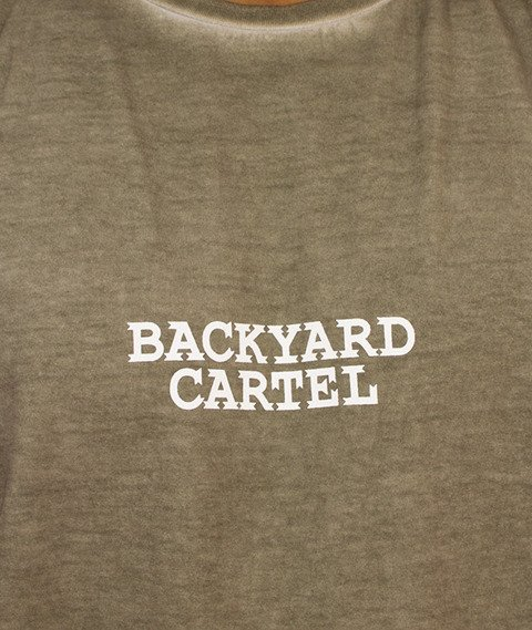 Backyard Cartel-Back 2 Back T-Shirt Oliwkowy
