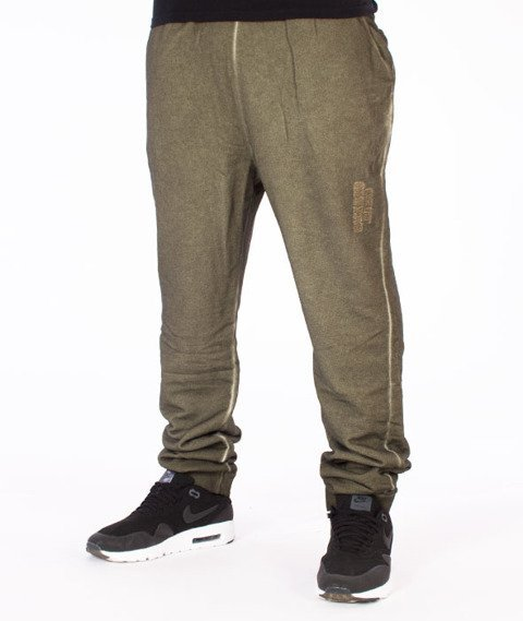 Backyard Cartel-Back 2 Black Sweatpants Spodnie Dresowe Oliwkowe