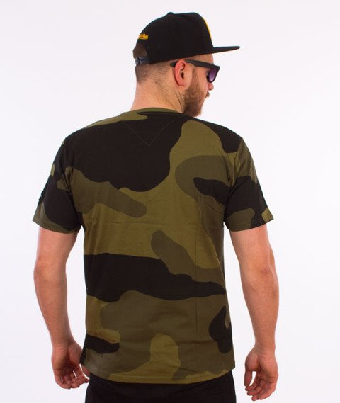 Backyard Cartel-Big Woodland T-Shirt Zelone Camo