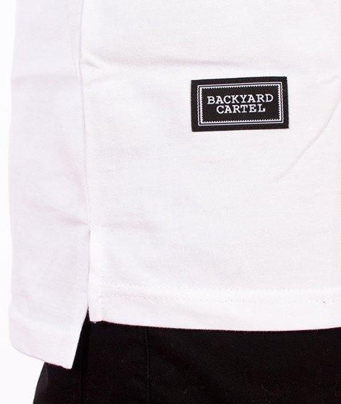 Backyard Cartel-Slant T-Shirt Biały