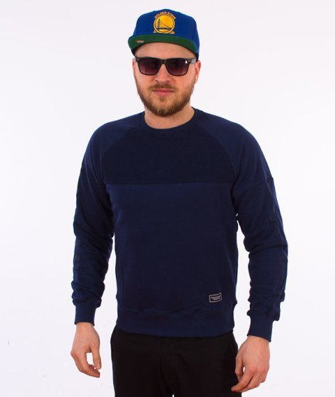Backyard Cartel-Swish Crewneck Bluza Granatowa