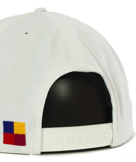 Biuro Ochrony Rapu-Color Square Snapback Biały