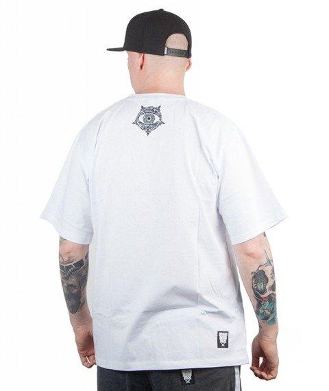 Brain Dead Familia-Grunge T-shirt Biały