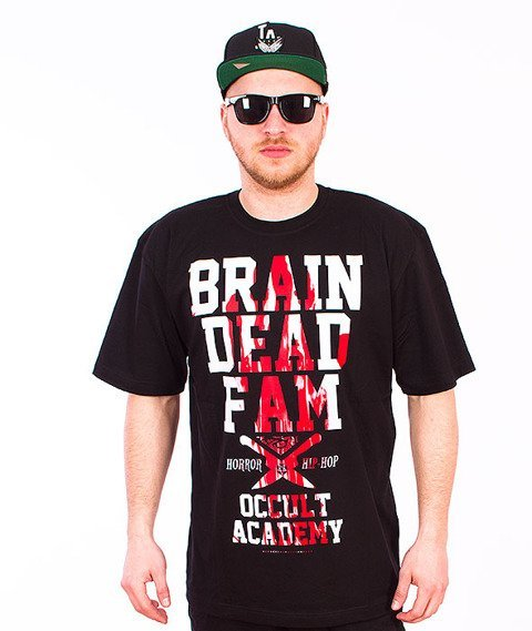 Brain Dead Familia-Occult Academy T-shirt Czarny/Blood