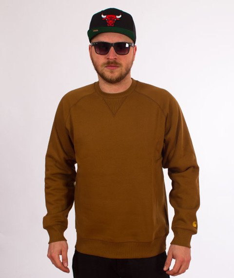 Carhartt-Chase Sweat Hamilton Brown/Gold