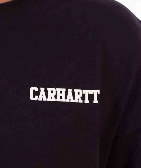 Carhartt-College Script Sweatshirt Dark Navy/White
