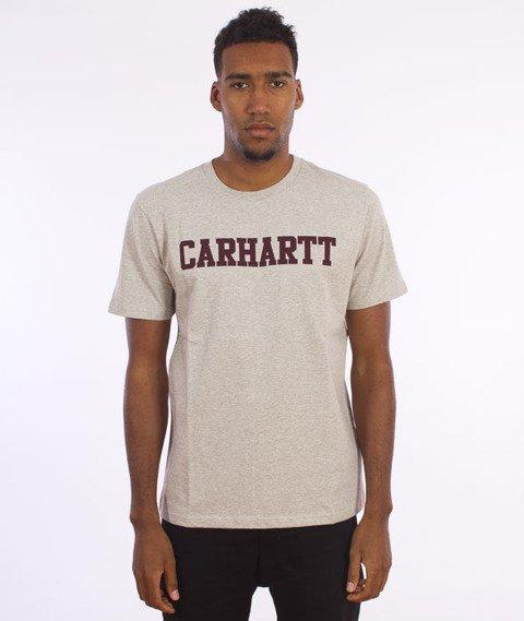 Carhartt- S/S College T-Shirt Snow Heather/Chianti