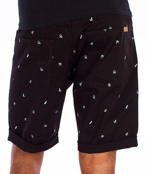 Carhartt-Swell Krótkie Spodnie Economy Print Black/White Rigid