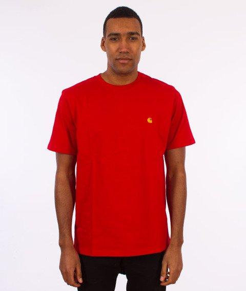Carhartt WIP-Chase T-Shirt Chili/Gold
