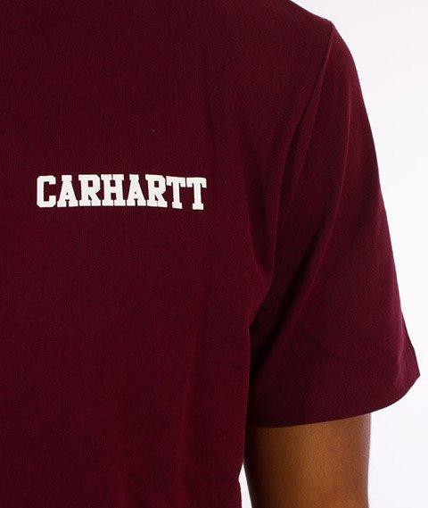 Carhartt WIP-College Script T-Shirt Chianti/White