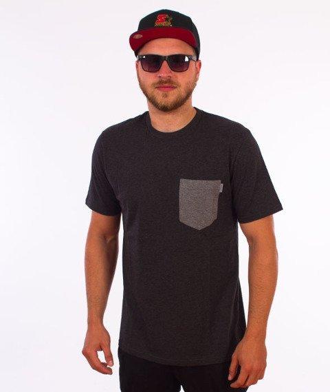 Carhartt WIP-Contrast Pocket T-Shirt Black Heather/Dark Grey Heather