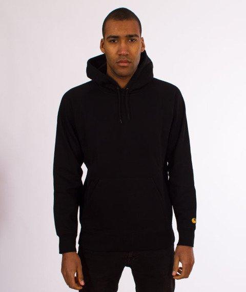 Carhartt WIP-Hooded Chase Sweat Bluza Kaptur Black/Gold