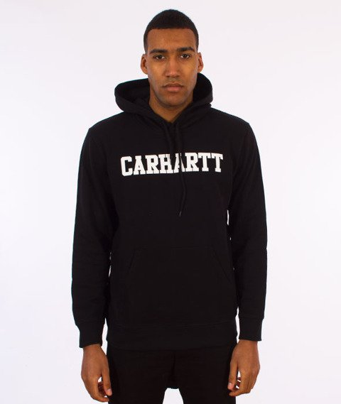 Carhartt WIP-Hooded College Sweat Bluza Kaptur Black/White