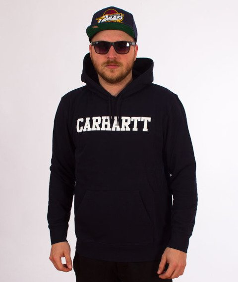 Carhartt WIP-Hooded College Sweat Bluza Kaptur Dark Navy/White