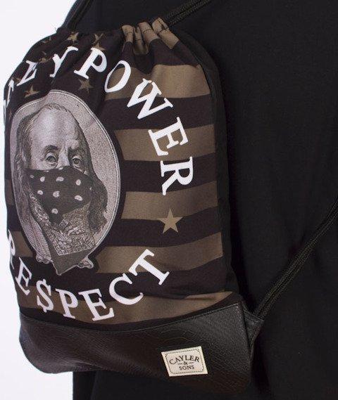 Cayler & Sons-Money Power Respect Gym Bag Black/Gold/White