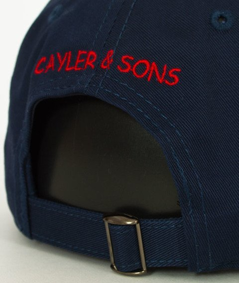 Cayler & Sons-WL Biggenstein Curved Snapback Navy/Mc
