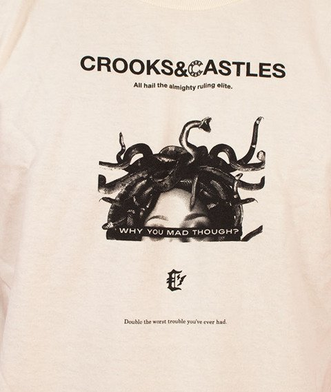 Crooks & Castles-You Mad T-Shirt Kremowy