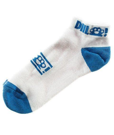 DIIL-Knuckle Skarpetki Krótkie Białe/Niebieskie
