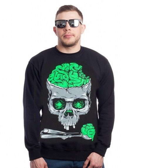Demonologia-Brain Skull Bluza Czarna
