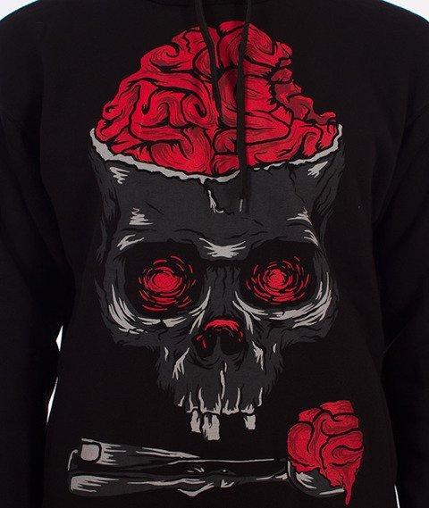 Demonologia-Brain Skull Bluza Kaptur Czarna