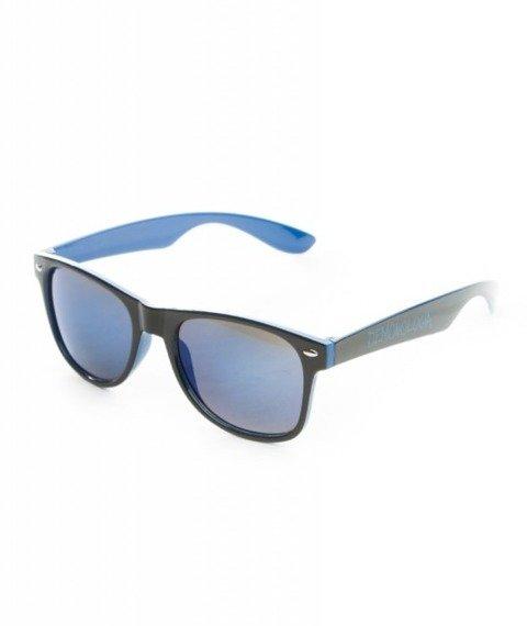Demonologia-Logo Okulary Przeciwsłoneczne Czarne/Niebieskie