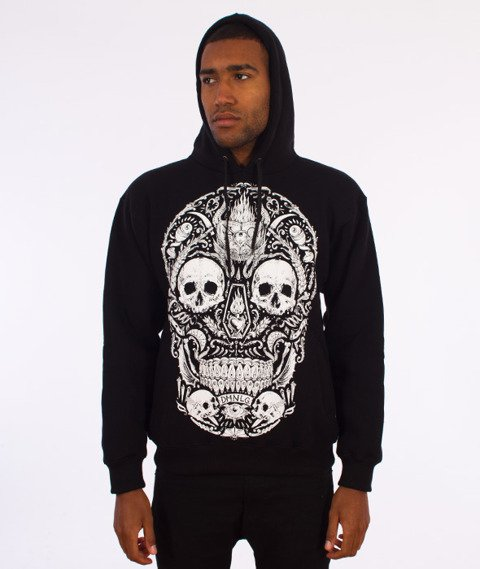 Demonologia-Skull Bluza Kaptur Czarna