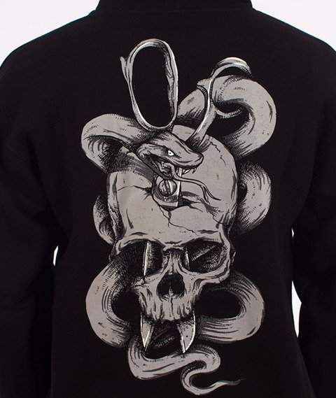 Demonologia-Skull Snake Bluza Kaptur Czarna
